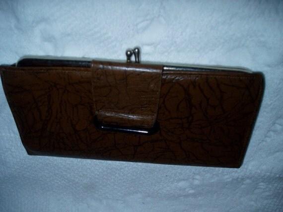 60s Rolfs Leather Clutch Wallet Pampas Steerhide