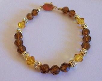 Lovely One Of A Kind Swarovski Crystal Bracelet