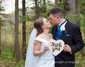 Thank You Heart Wedding Sign Prop Photography Reception Decor Hand painted Wedding Sign Handmade Whimsical Sign