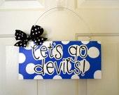 Your Favorite College or Pro Team Polka Dot Sign - cute polka dot signs - college team signs - football signs - Duke Blue Devils Sign