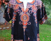 70s Hippie Dashiki Vintage Shirt