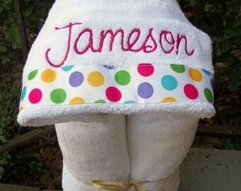 Monogrammed Hooded Baby Towel - Monogram Girls Towel - Monogram Boys towel