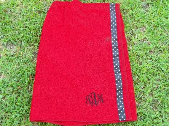 Personalized Spa Wrap Bath Towel - Monogram Spa Towel - College Dorm Towel - Bridal Party Spa Wrap Towel  - Bridesmaid Towel Gift