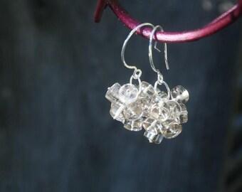 Smokey Quartz Cluster Earrings