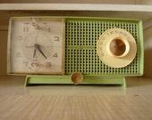 Minty-Green Mid-Century GE Clock Radio