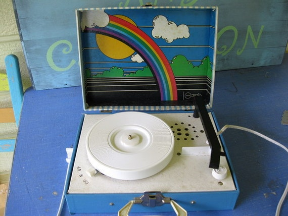 awesome vintage 70s imperial party time record player. Black Bedroom Furniture Sets. Home Design Ideas