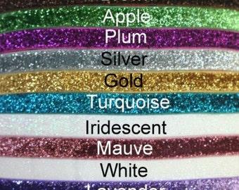 "Glitter Elastic-3/8""-You Choose Colors-10yds"