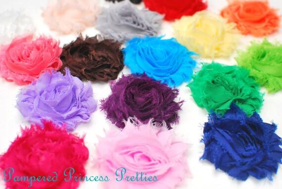 Shabby Chiffon Flowers-Set of 100