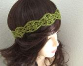 Loden Forest Crochet Headband - Ready To Ship