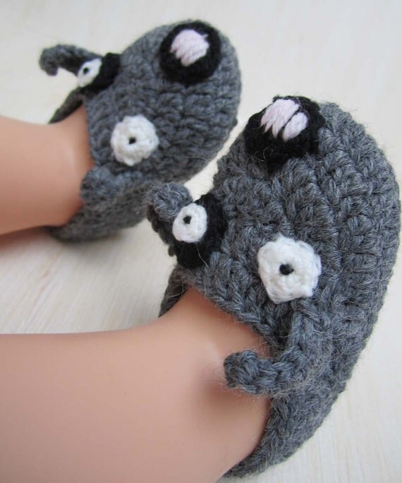 Little Mouse Baby Booties - 6-9 months - Ready to Ship