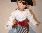 7 Piece Pirate Set for American Girl or 18 Inch Doll