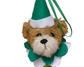 Easy Christmas Ornament Teddy Bear PDF Sewing Pattern Noelle