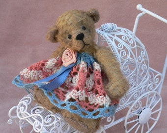 Artist Miniature Teddy Bear EPattern Inga by Megan Wallace