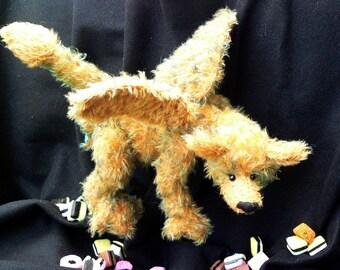 Artist teddy bear dragon PDF sewing pattern - Daunder