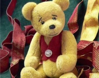 Miniature artist teddy bear PDF sewing pattern - William