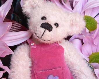 Artist Miniature Teddy Bear PDF Sewing Pattern - June