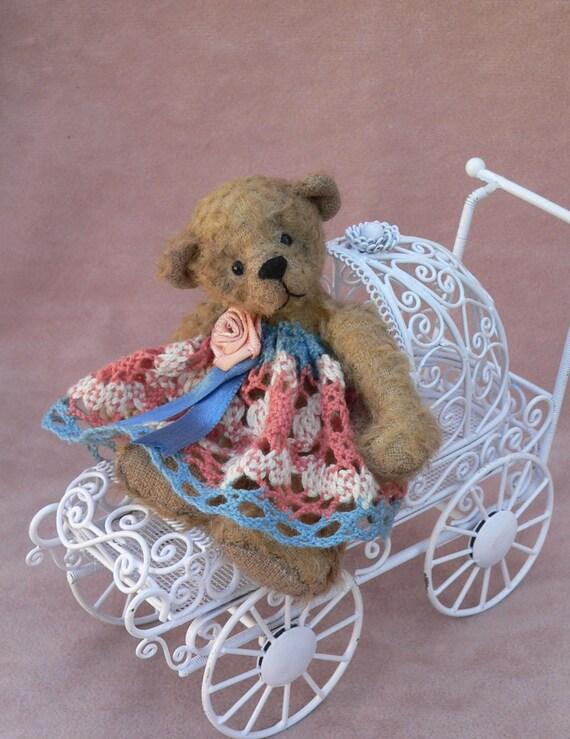 Artist Miniature Teddy Bear EPattern Inga by Megan Wallace