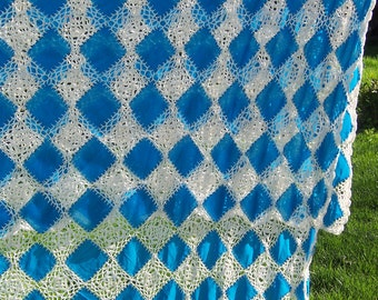 Patchwork Crochet Coverlet c1940s