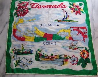 50s silk souvenir scarf via Bermuda