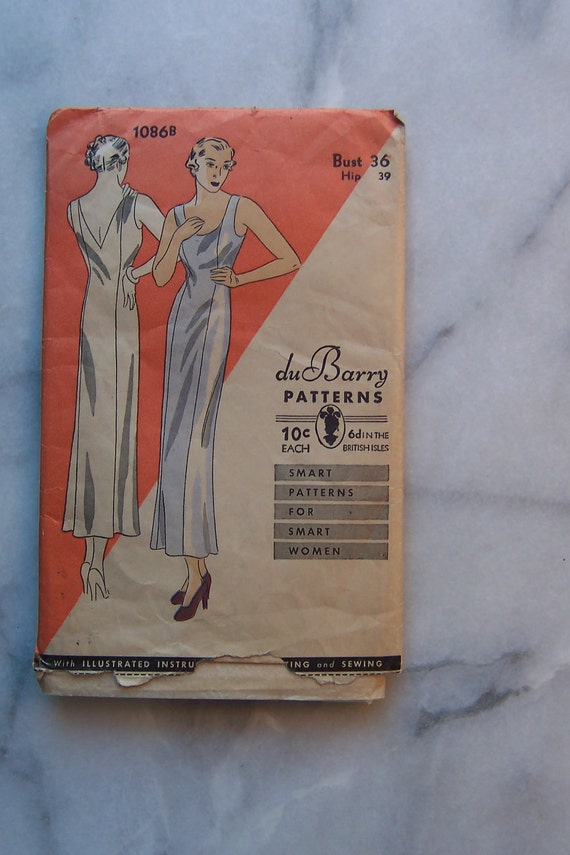 DuBarry Slip Pattern of the 1930s