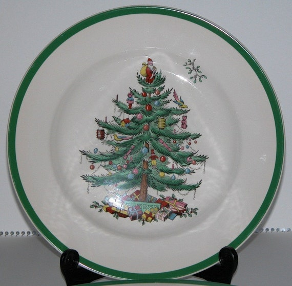 Spode Christmas Tree China Sale: SALE Vintage Spode China Dinner Plates By ManiqueDepression