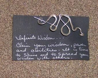Infinite Wisdom -  Hammered Silver Pathway Pin