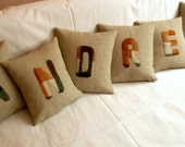 Pillow with the name of your friend. Talking Pillows set of 6