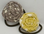 Twisted Flower Ponytail Holders