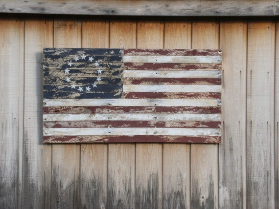 American Flag made from Reclaimed Wood