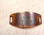 Etched Brass Bracelet Piece