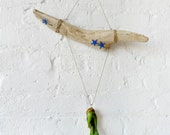 Wall Hanging Air Plant Drift Wood with Blue Starfish