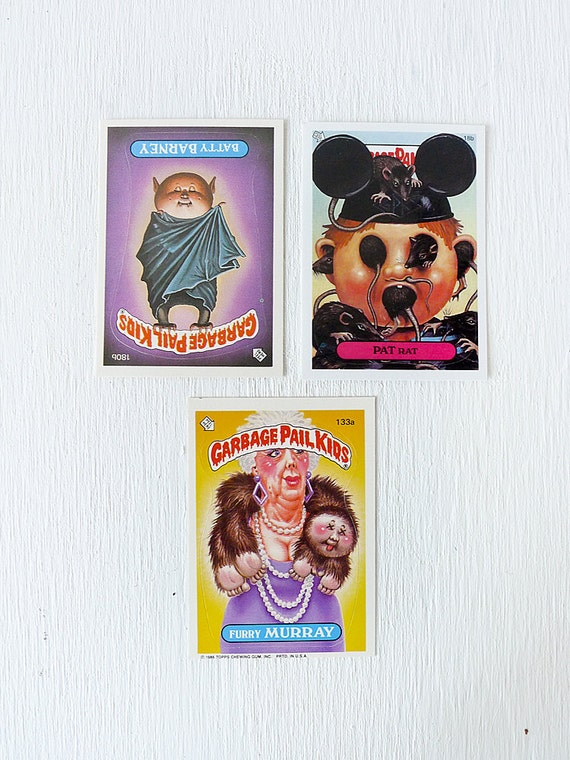 Vintage Garbage Pail Kids Cards... ESW's GPK taxidermy collection