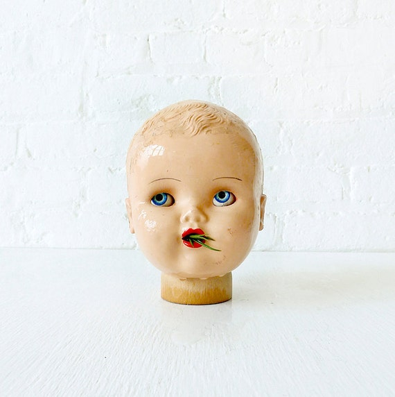 Vintage Doll Head Air Plant Garden- Creepy Cute Collection- PLAYTHING