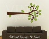 TREE BRANCH LEAVES - Vinyl Wall Art Decor - SIZE 33 x 56 inches