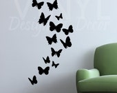 BUTTERFLIES Vinyl Wall Art Decals - SET OF 15