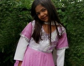 Henna Fashions - Pink and White Peshwas 6 Years Old