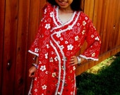 ON SALE - Henna Fashions - 7 Years Old Red Shalwar Kameez