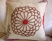RED FLOWER Pillow Cover