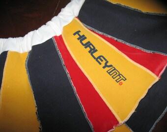 SALE Hurley Int Upcycled Patchwork Sweatshirt Circus Skirt