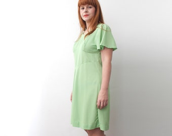 Size L XL NOS vintage mint Green Dress