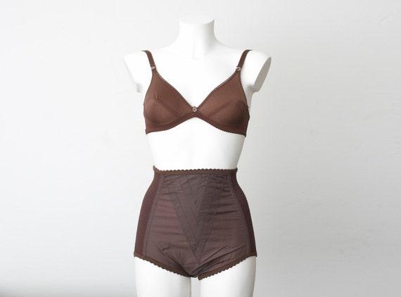Chocolate brown bra dead stock Vintage