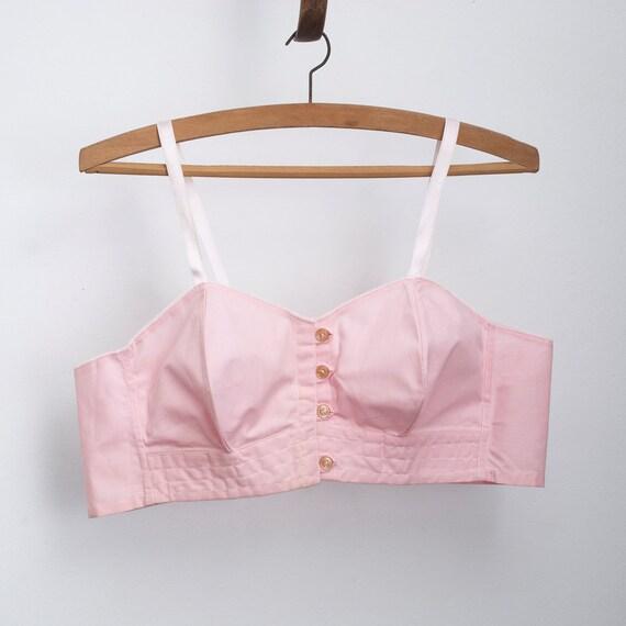 1940 pink bullet bra bombshell NOS Vintage in M  size