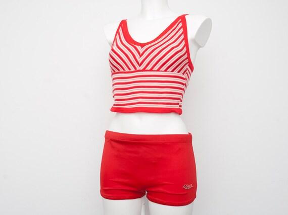 Dead stock vintage Red mens bathing suit