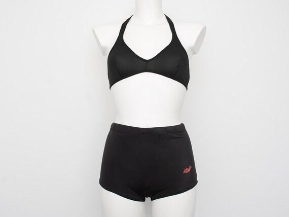 Dead stock vintage Black Men's Swim Trunks Shorts