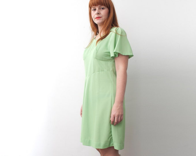 Size L XL NOS vintage mint Green Dress