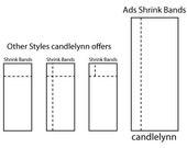 50 Shrink Bands - 35 mm x 90 mm