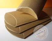 30 Corrugated Kraft Pillow Boxes - 3 7/8 X 3 7/8 X 1 3/8