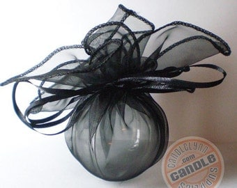 5 BLACK Organza Wraps - Party favors, jewelry, gifts and much, much more