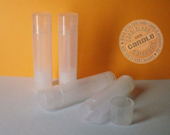 25 Natural Lip Balm Tubes w/Caps