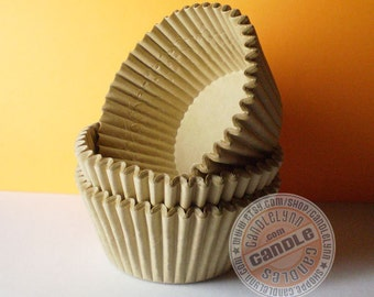 50 Large Unbleached Cupcake Baking Cups